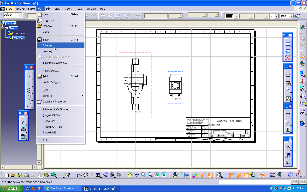 Tutorial How To Use Drafting Workbench In Catia V5