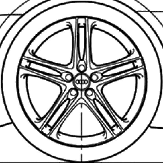 Audi A4 White Black Rims
