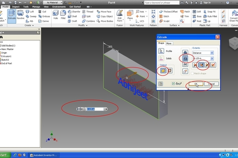 how to add text in inventor