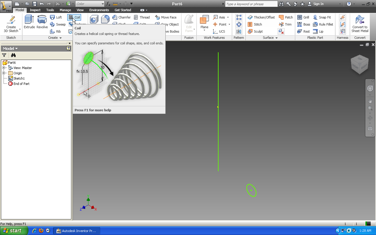 Tutorial: How to use coil feature in Autodesk Inventor