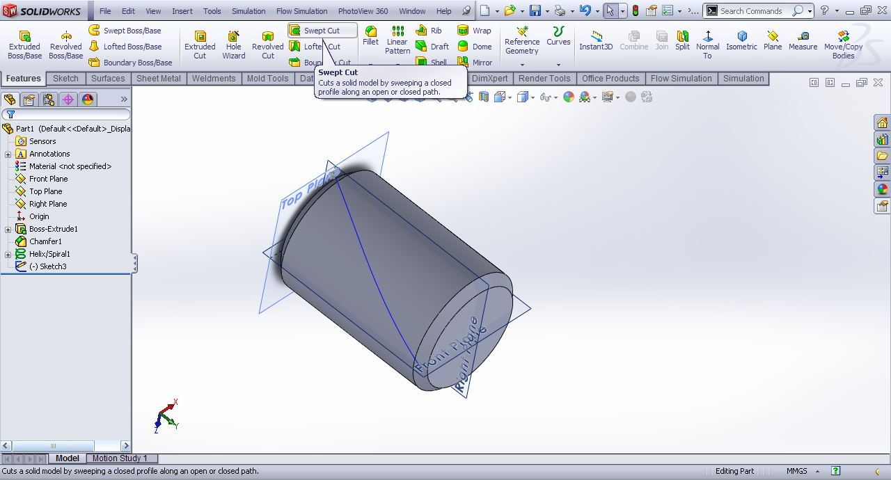 How to Create Knurl in SOLIDWORKS | GrabCAD Tutorials