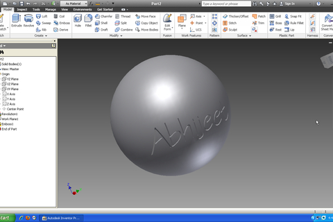 emboss a pdf in inventor