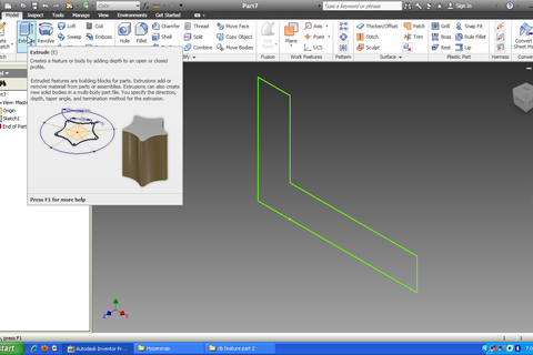 inventor plane tutorial with Tutorial How To Use Rib Feature In Autodesk Inventor Lesson 2 on Thread for Screw Tutorial additionally Autodesk Inventor Beginners Tutorial Extruding A Simple Cube moreover 37315 Adding Blood On The Ground as well Revovle  mand Solidworks 2015 Tutorial as well Inventor Simulation Rdm Flexion Poutre.