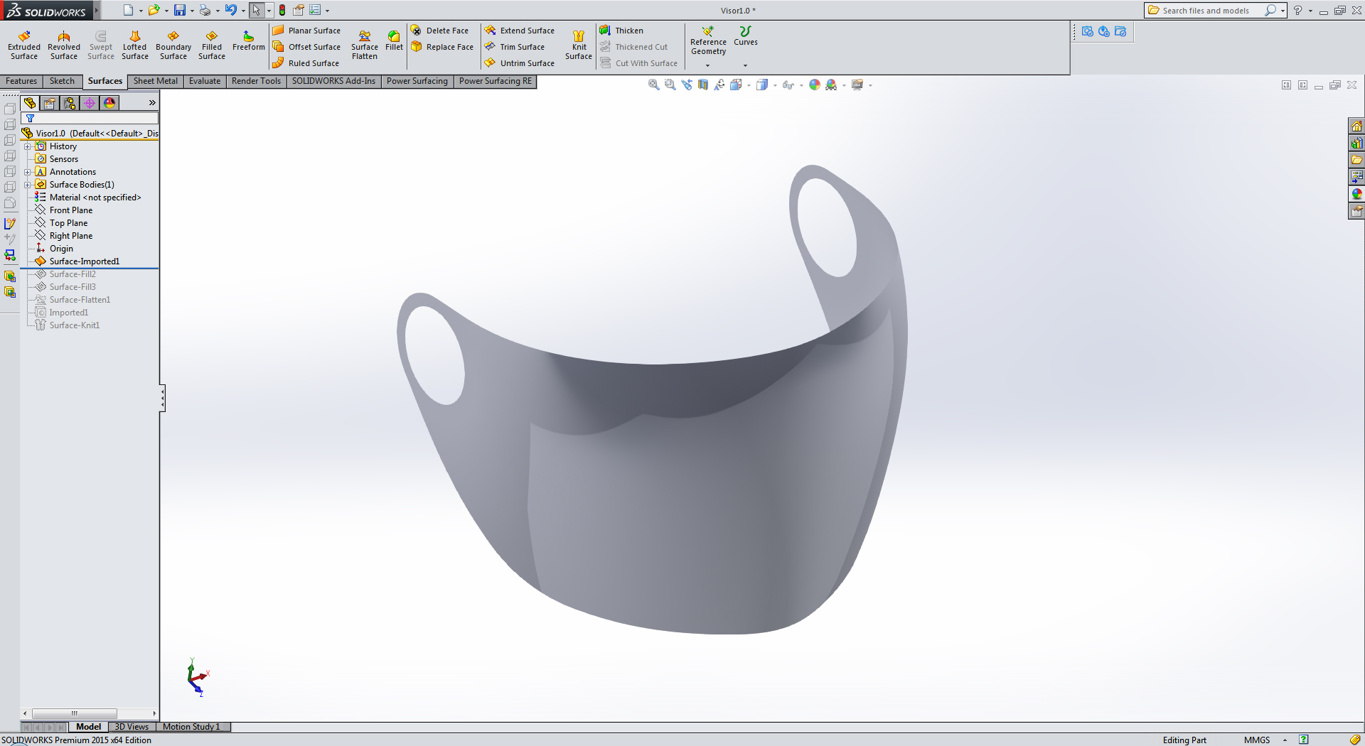How To Flatten A Curved Surface In Solidworks Grabcad