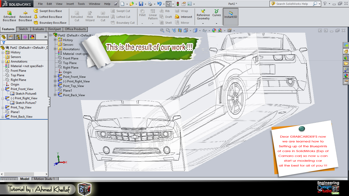 How to setting up blueprints in solidWorks ? | GrabCAD Tutorials