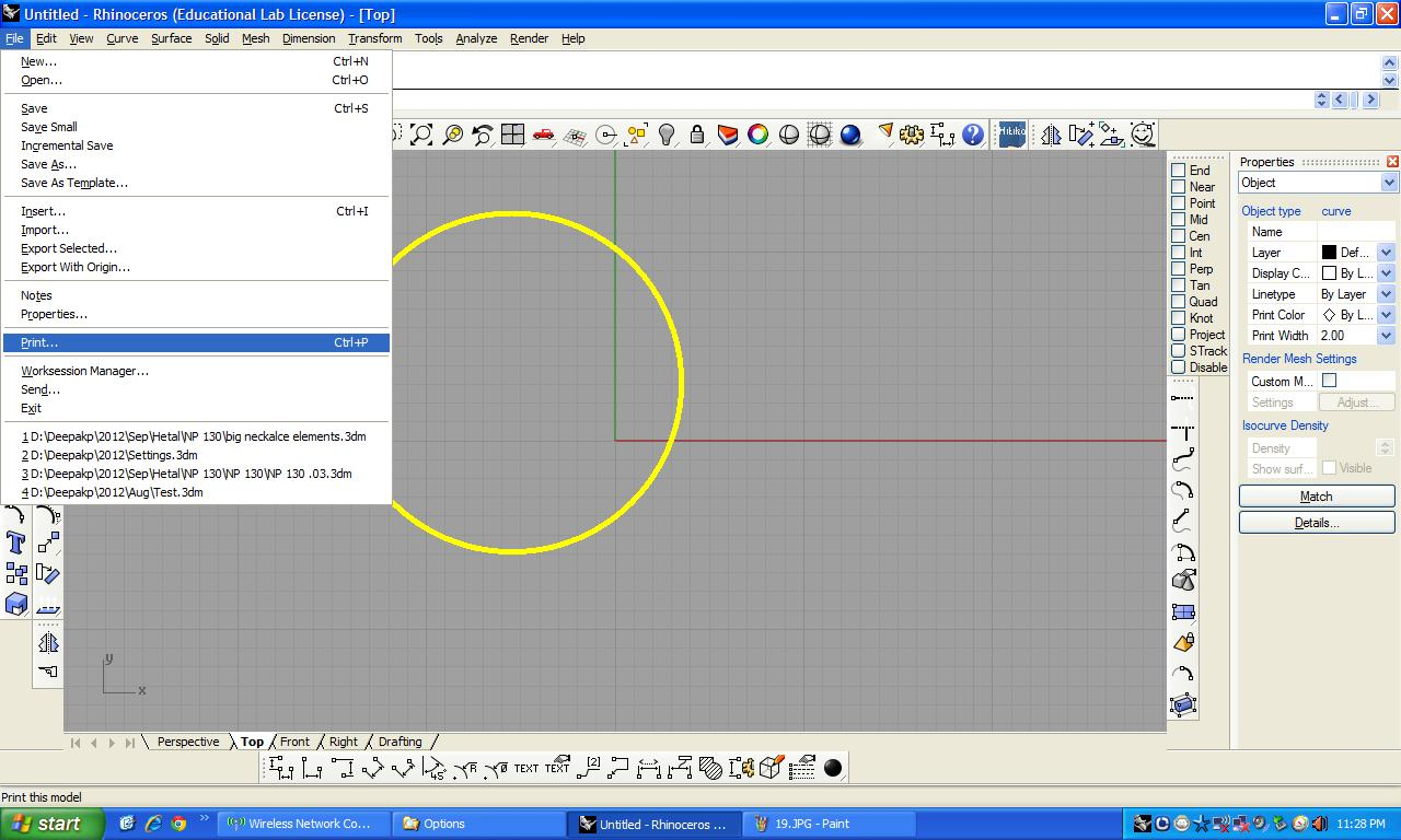 How do i add thickness to a polyline in Rhinoceros 3D