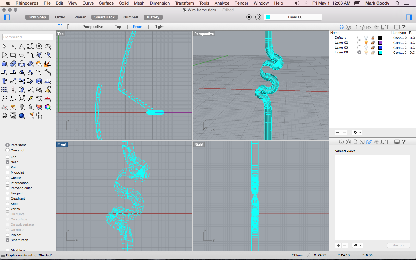 Problem with the pipe tool & boolean when joining curves? | GrabCAD ...