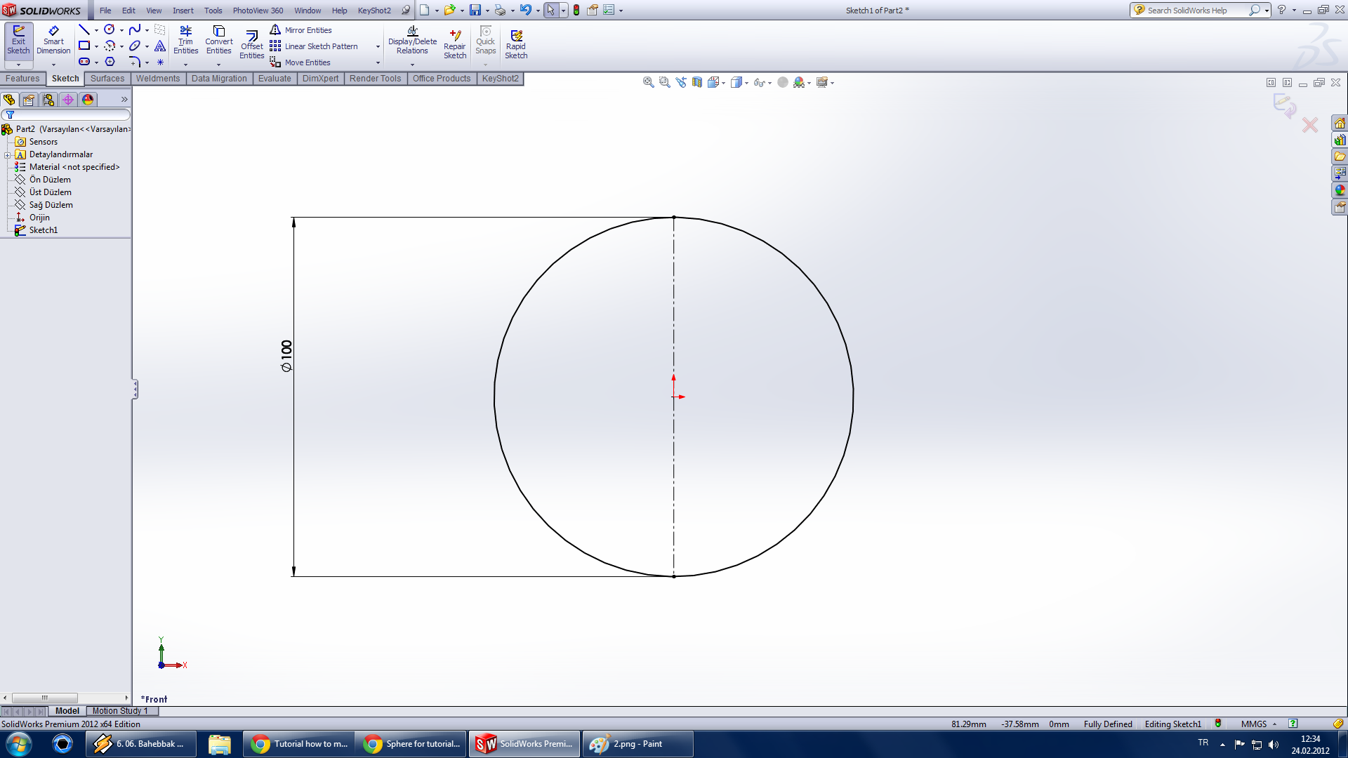 How to Draw a 3D Sphere in SOLIDWORKS | GrabCAD Tutorials