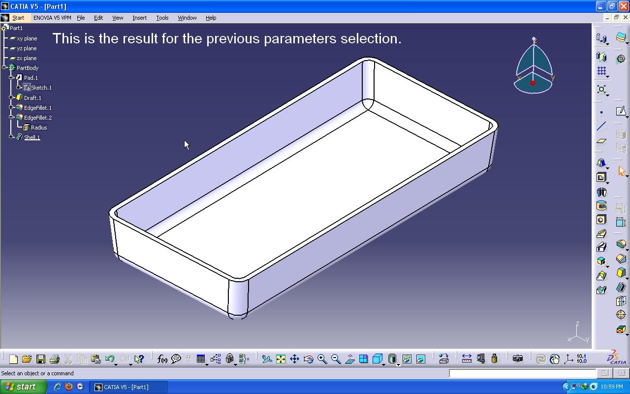 Tutorial: Using Shell function in Catia V5  | GrabCAD Tutorials