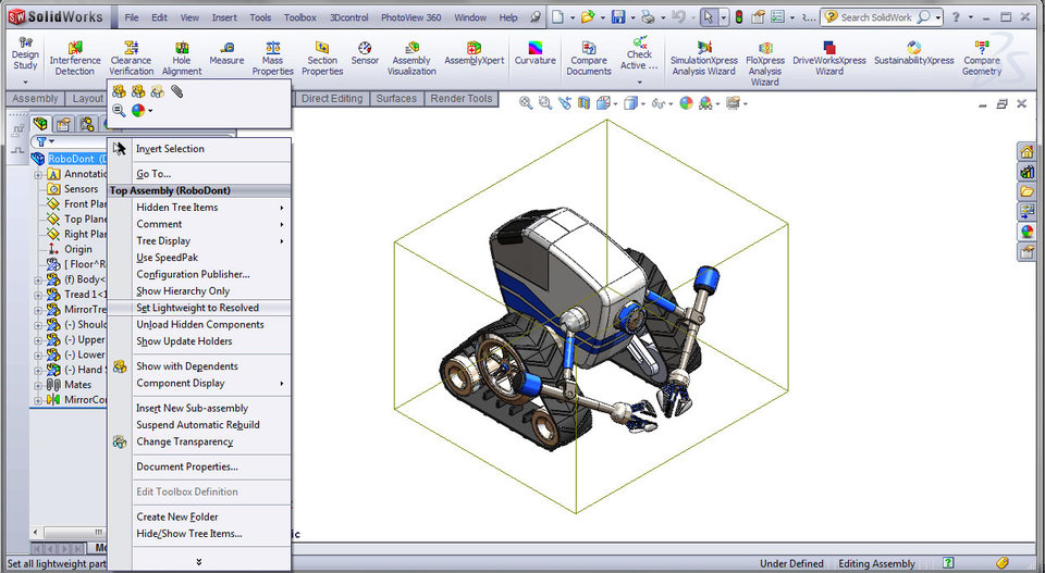 how to create a part from an assembly in solidworks
