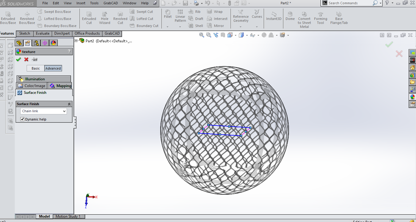 Adding texture to to surface in SolidWorks   GrabCAD Tutorials
