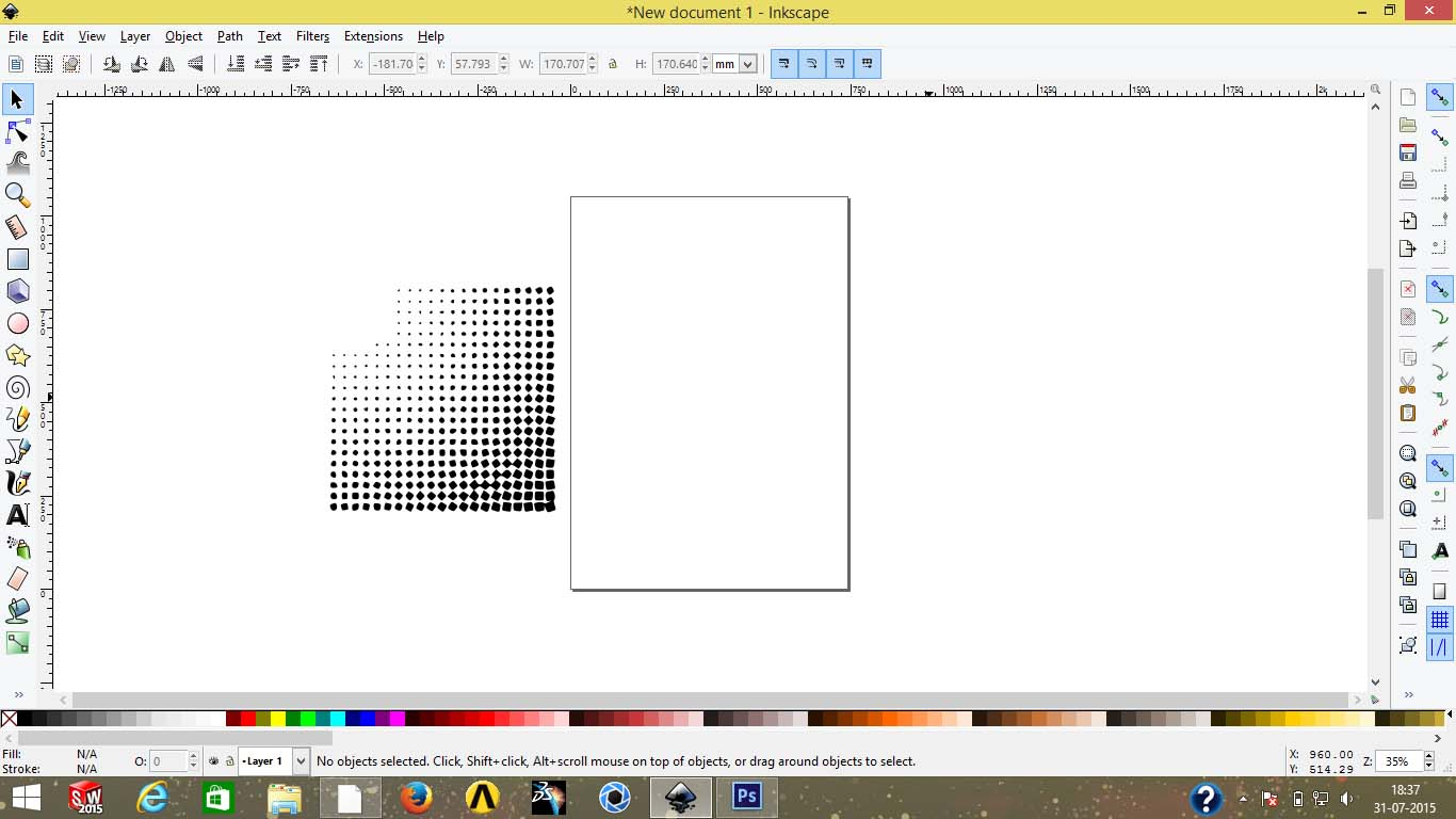 Creation Of Complicated Dot Pattern Grabcad Tutorials Software For Drawing Simple Objects And Vectors Free Body Diagrams Delete The Other Image Adjust Vector Accordingly