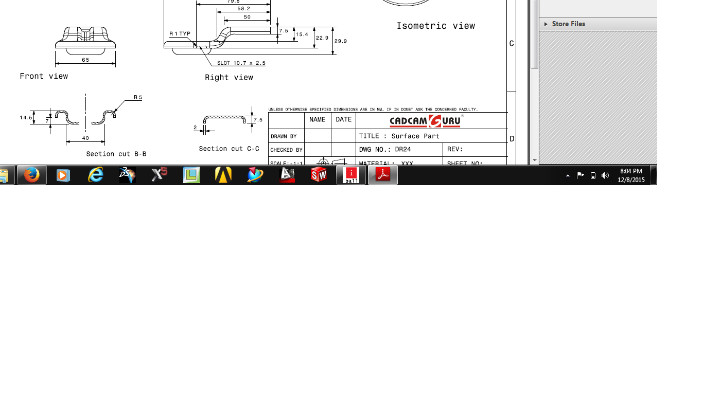 How i drow this only surfacing creocatia or ugnx grabcad 123g assignment no1pdf baditri Image collections