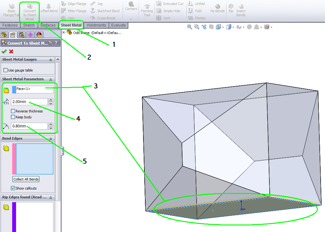 How To Convert A Solid To Sheet Metal In Solidworks