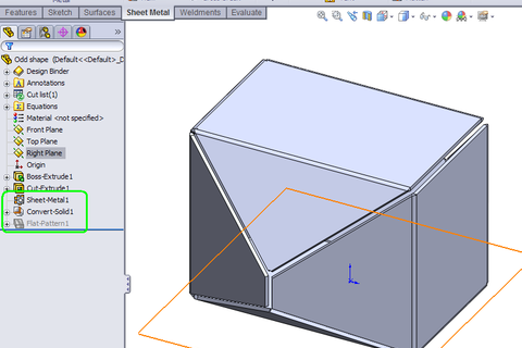 How To Convert A Solid To Sheet Metal In Solidworks Grabcad