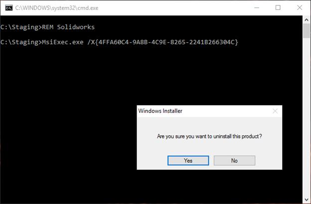 Tutorial Solidworks Uninstall Batch File