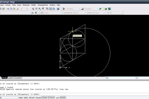 how to draw circle in isometric view in autocad