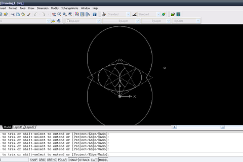 how to draw circle in autocad with diameter in mm