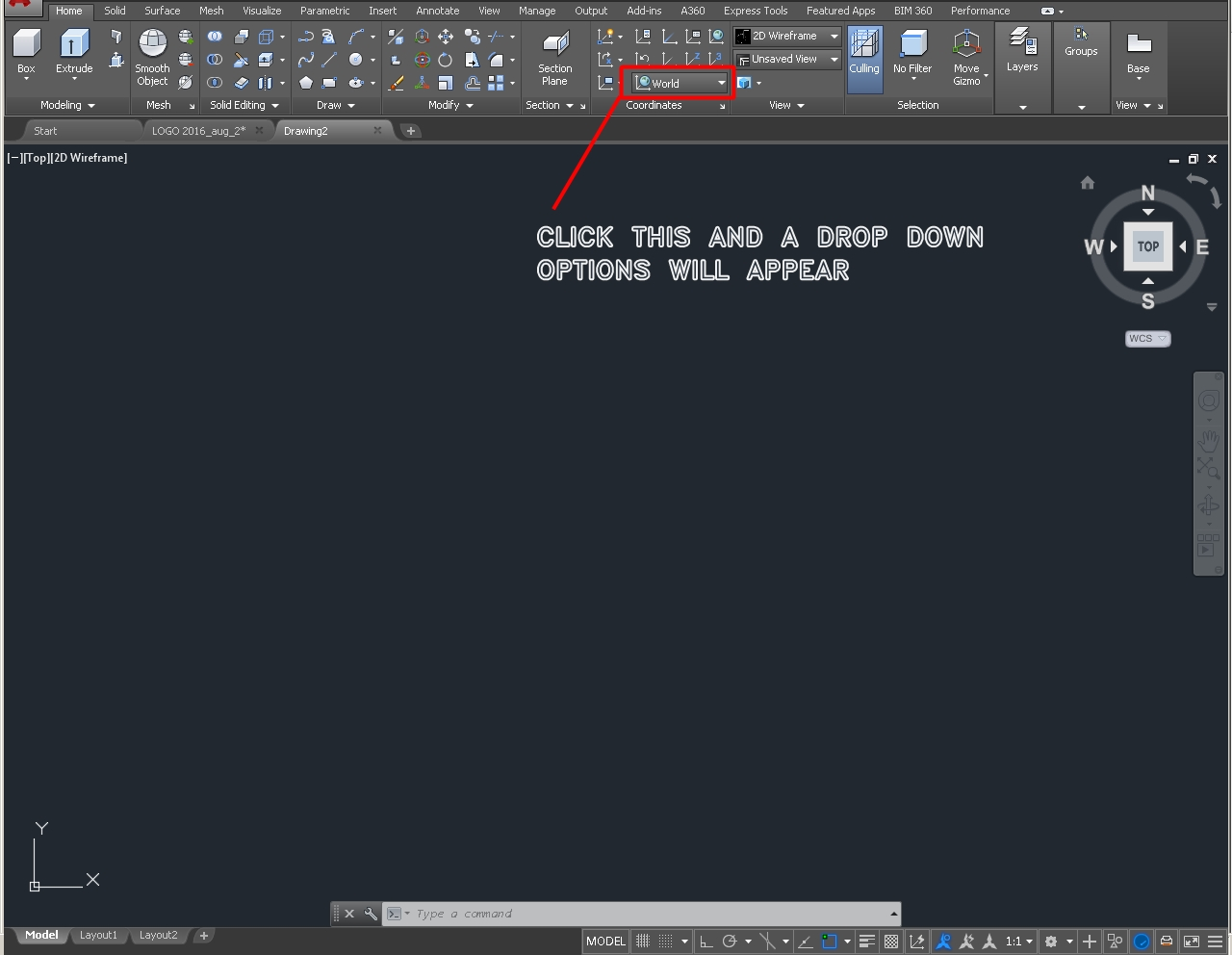 How to change the drawing plane on autocad 3d? | GrabCAD