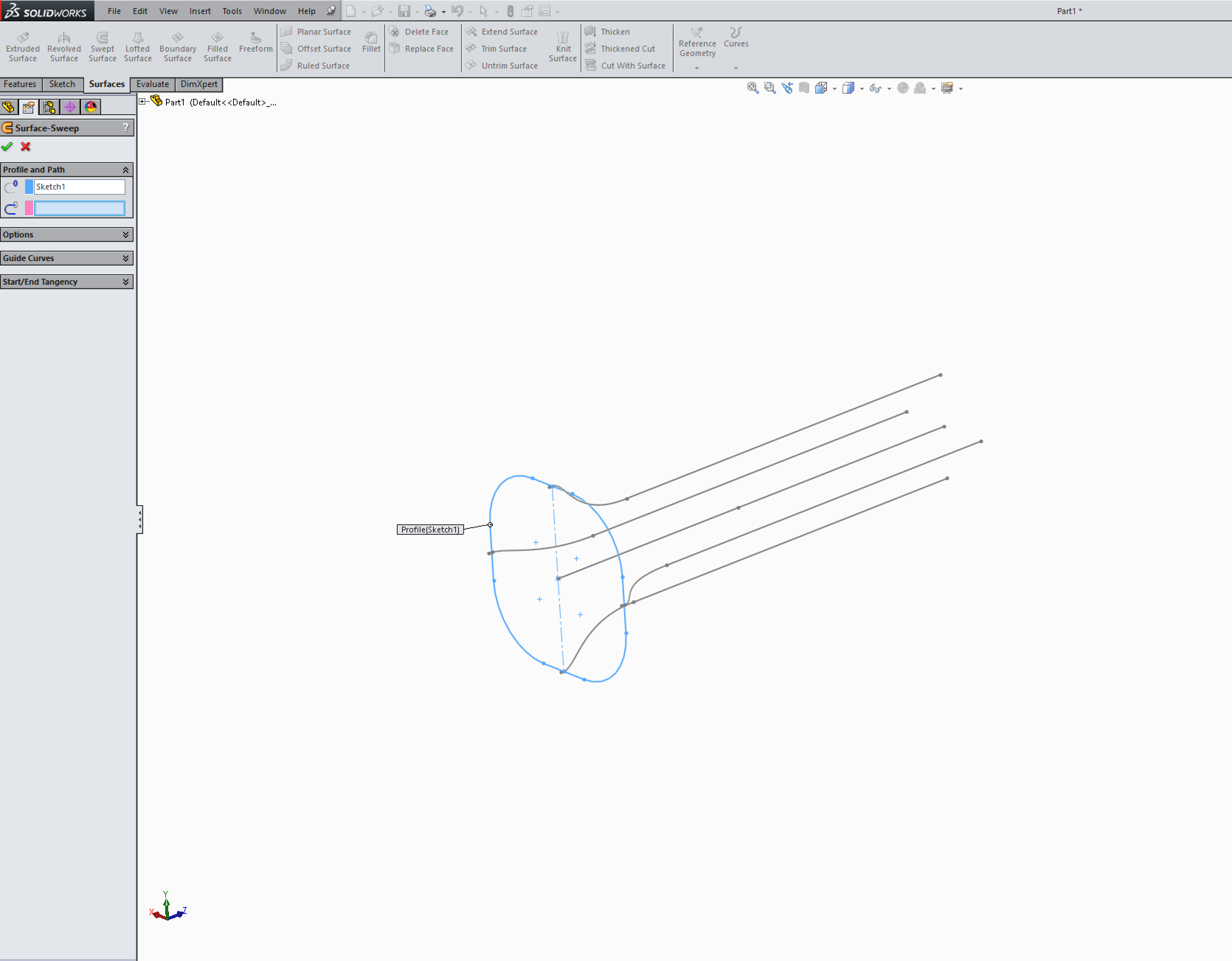 Sweep w/Guide curves not working in Solidworks | GrabCAD Questions