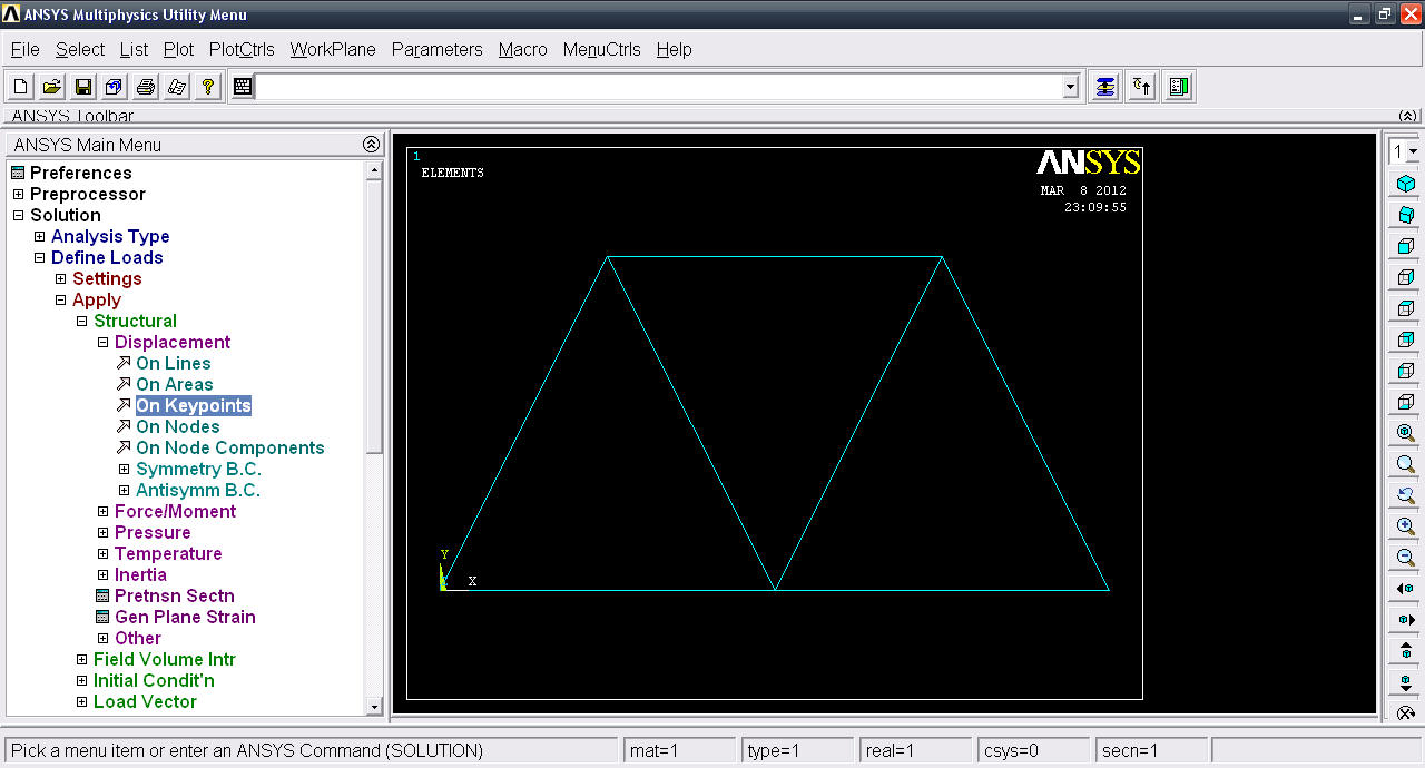 Tutorial - 2D Truss analysis in Mechanical APDL (ANSYS) Part