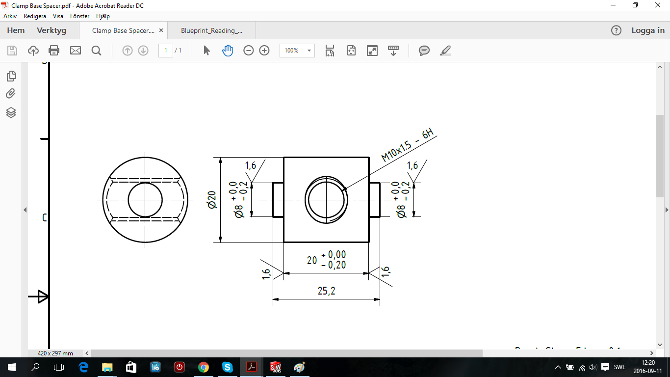 How to interpret the values of a chamfer and a thread in a blueprint part 1g malvernweather Choice Image