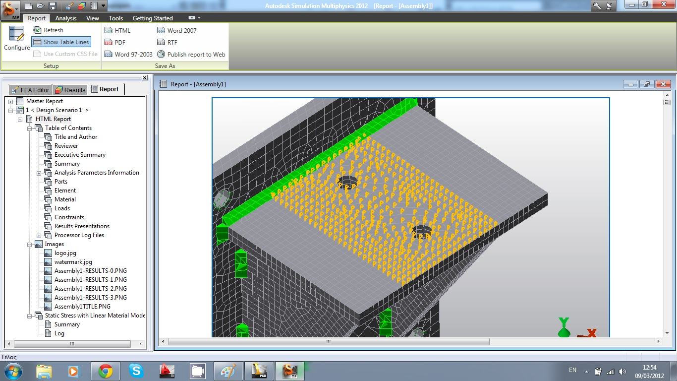 Autodesk algor simulation 2011 tutorials: review the results.