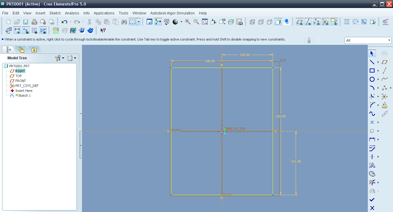 tutorial modeling support bracket in creo element pro aka proWildfire Pro Diagram #10