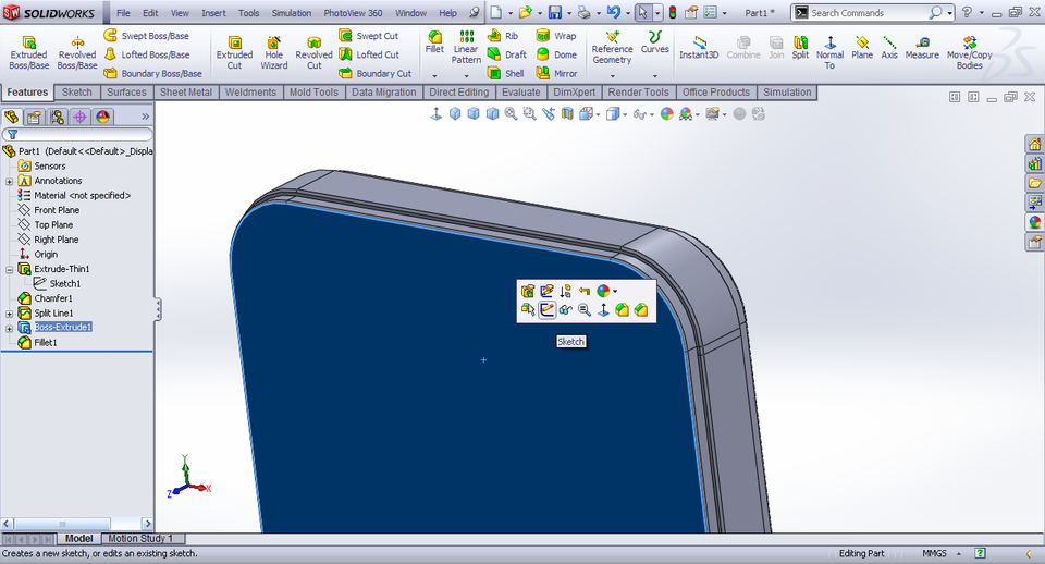 Tutorial Making Iphone 4s In Solidworks Part 1 Grabcad