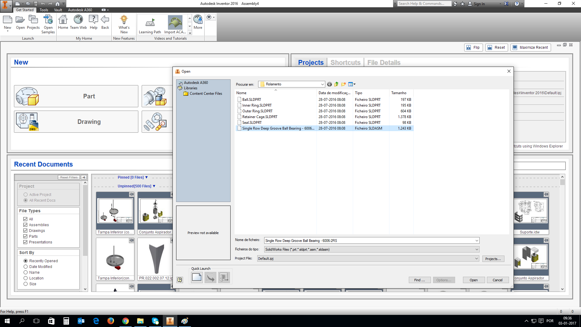 How to import SLDPRT file to inventor  ipt file? | GrabCAD