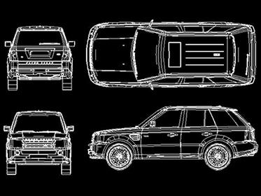 How to make all land rover car at cad 2d drawing can i for 2d blueprint maker
