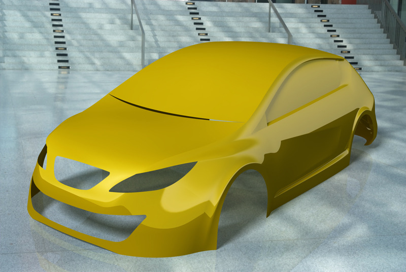 Car body design - CATIA,STEP / IGES - 3D CAD model - GrabCAD