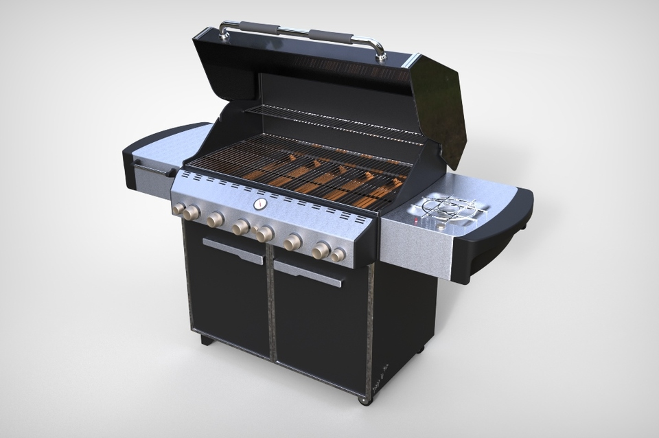 barbecue 3d