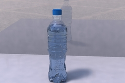 Bottle with waterdrops