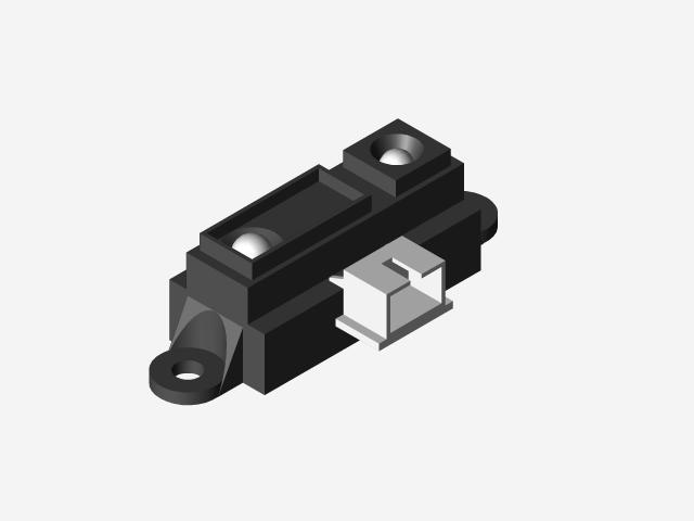 SHARP IR Sensor - GP2Y0A21YK | 3D CAD Model Library | GrabCAD