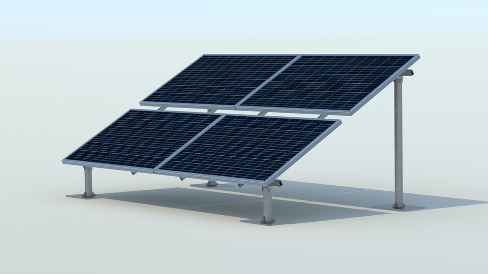 Solar Panel Mounting Structure 3d Cad Model Library Grabcad