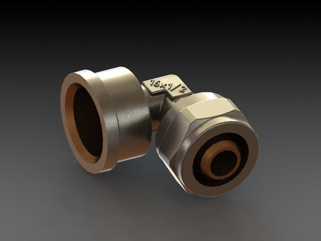 Pvc Pipe Fittings Corner : Corner fitting for metal plastic pipe quot stl step