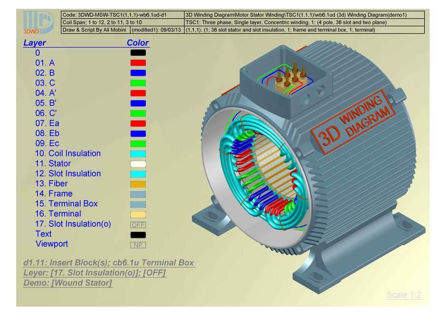 3d winding diagram-tsc1(1,1,1) | 3d cad model library | grabcad  grabcad