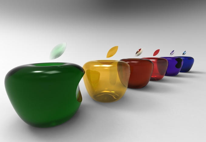 3D Apple logo