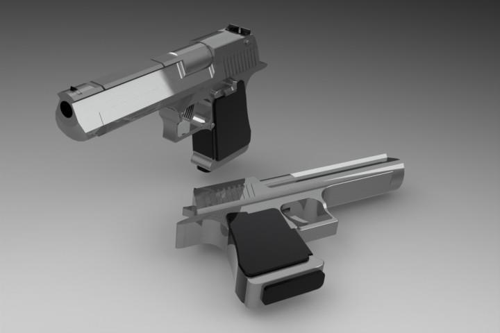 Desert Eagle | 3D CAD Model Library | GrabCAD