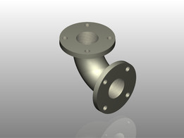 """90 Degree Pipe Elbow with 3"""" Diameter"""