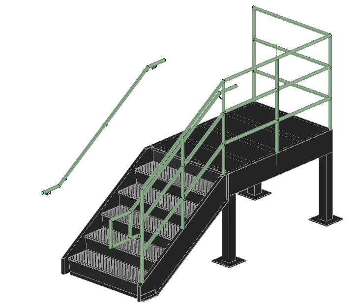 Exterior Steel Stairs | 3D CAD Model Library | GrabCAD