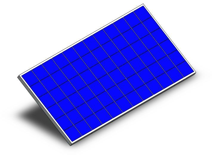Solar Panel 3d Cad Model Library Grabcad