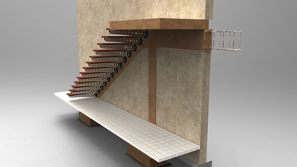Cantilever Staircase   AutoCAD,STEP / IGES   3D CAD Model   GrabCAD