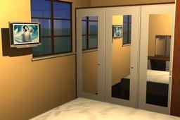 Bedroom Plan / 3D
