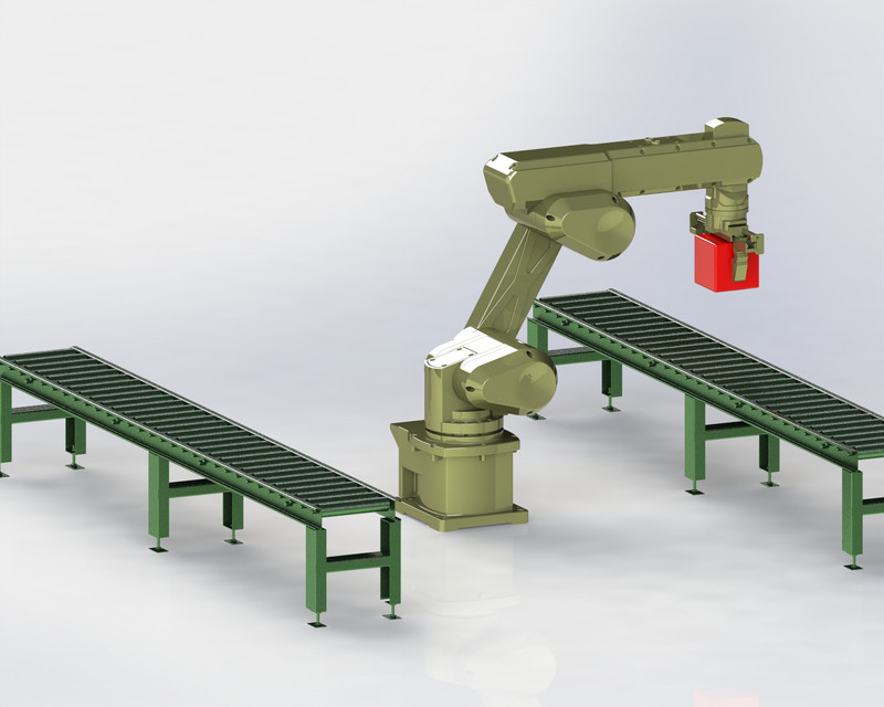 Industrial Robot Arm 6 DOF (Degrees of Freedom)   3D CAD