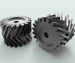 Herringbone gear made in AutoCAD (thesourcecad.com)