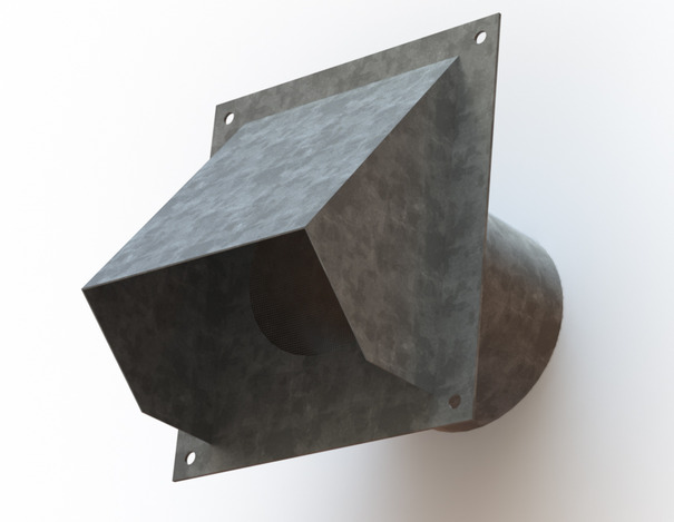 Exhaust Vent (with and without screen)