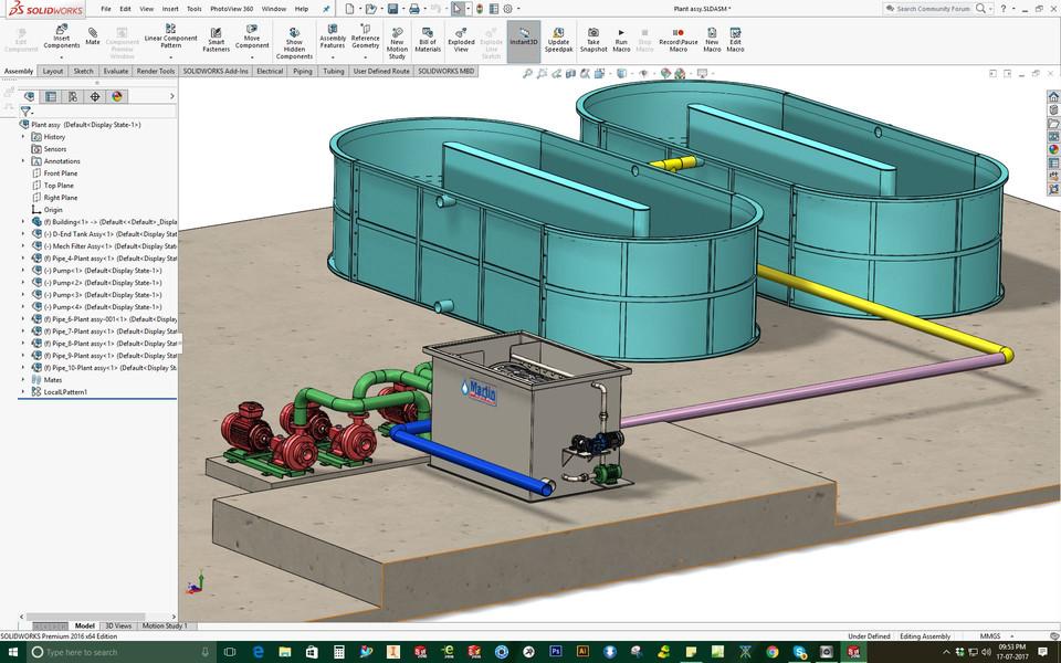 (RAS ) Re-Circulating Aquaculture System | 3D CAD Model