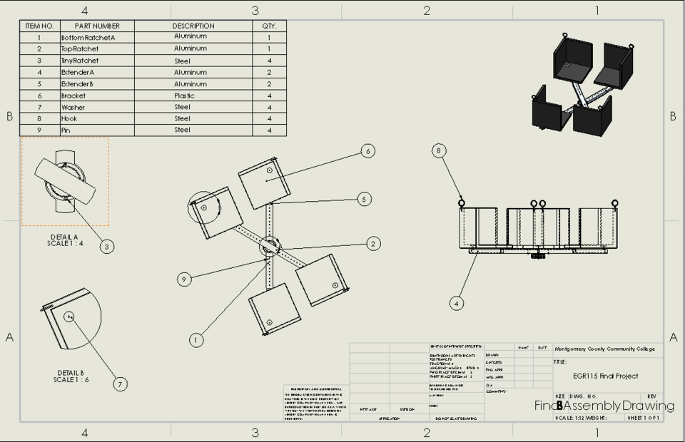 Drone Package Carrier Attachment | 3D CAD Model Library